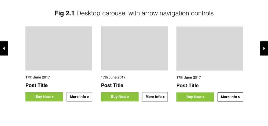 desktop carousel with arrow navigation example