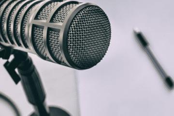 photo of podcast recording equipment