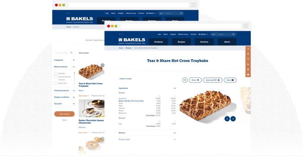 Bakels website recipe pages
