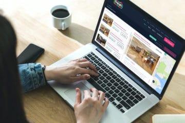 Fresh website on a laptop