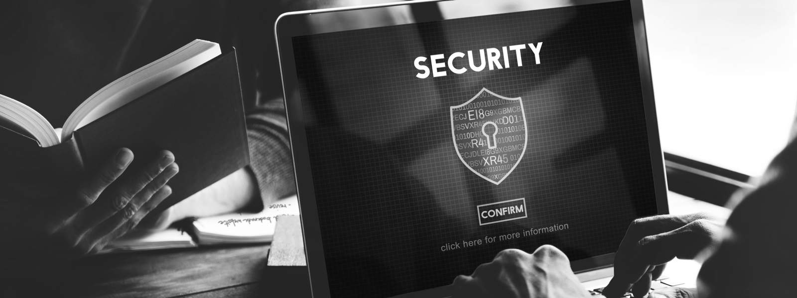 photo of person using laptop security software