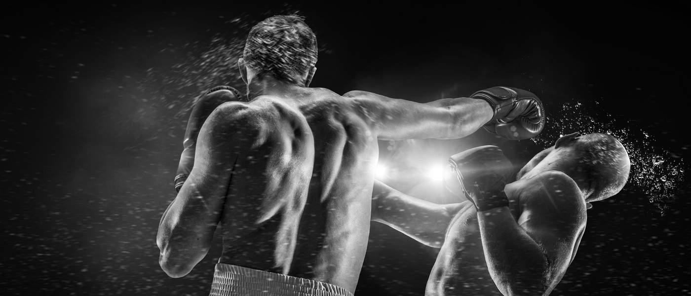 photo of boxing match