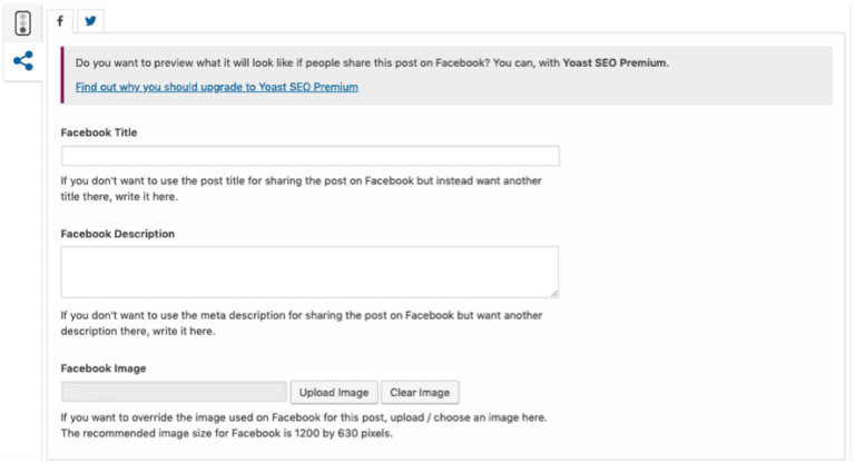 yoast seo plugin social snippet example