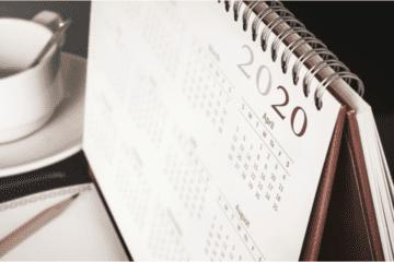Photo of a 2020 calendar