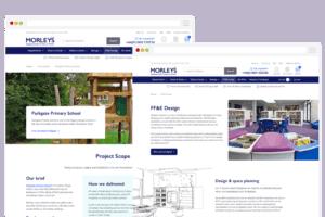 UI Design pages for Desktop on Morleys website redesign