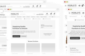 Wireframes for Morleys in Desktop and Mobile