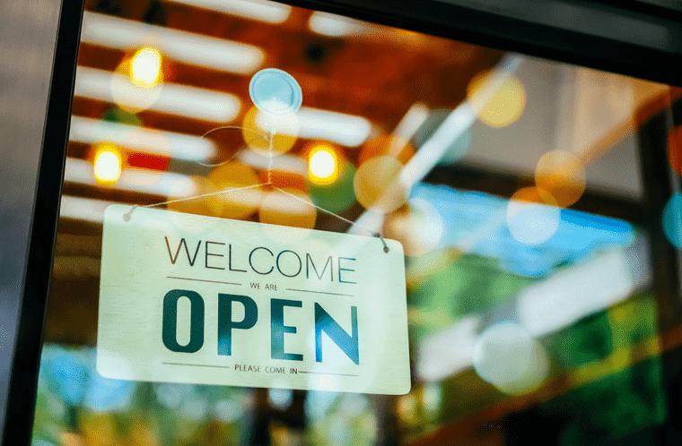 business door representing homepage