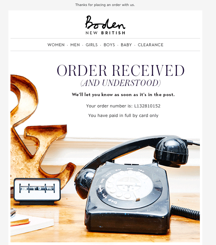 boden email example