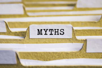 photo of file marked myths