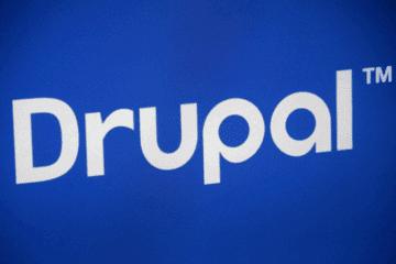 drupal logo blog header
