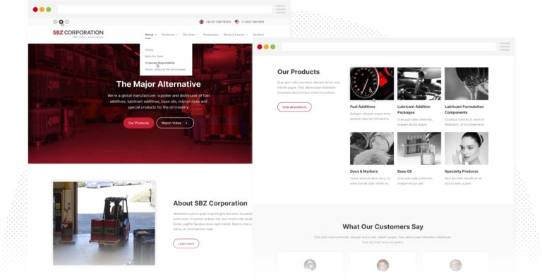 SPZ - Homepage Design